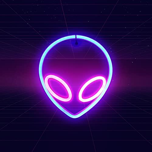 Alien Leuchtreklamen LED Neon Decorative Luz Lámpara de pared colgante LED Lichtreklamen para dormitorio, pared, hogar, bar, fiesta decoración