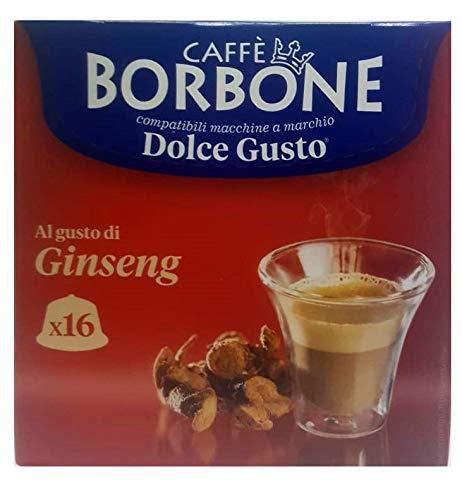 16 Capsule Caffè Borbone ginseng compatibili Nescafè Dolce Gusto ®