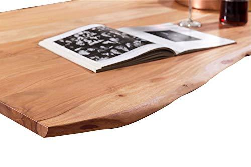 SAM Tischplatte 120x80 cm, Akazie massiv, naturfarben, stilvolle Baumkanten-Platte, pflegeleichtes Unikat - 2
