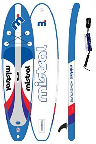 Mistral Adventure 10'5' Edition DSFL Technology, tavola da appoggio gonfiabile, SUP con SUPwave.de Coil-Leash Stand up Paddle Board iSUP