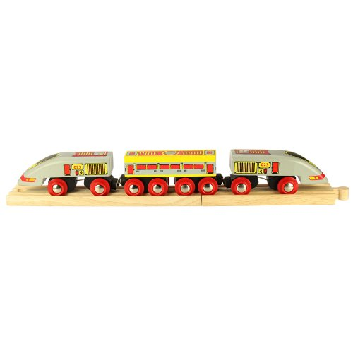 Bigjigs Rail Bullet Train - Other Major Wooden Rail Brands are Compatible