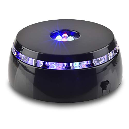 Santa Cruz Lights 4 LED Round Color Light Stand Base for Crystals/Glass Art
