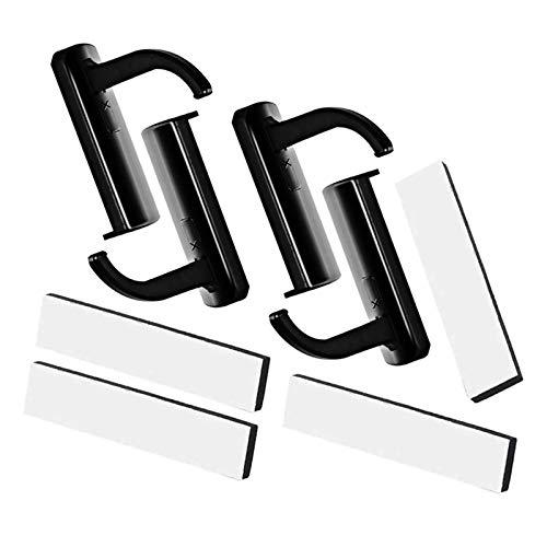 JZZJ 4 Pezzi Supporto Cuffie Supporto Cuffie Plastica Supporto per Cuffie da Parete, Nero
