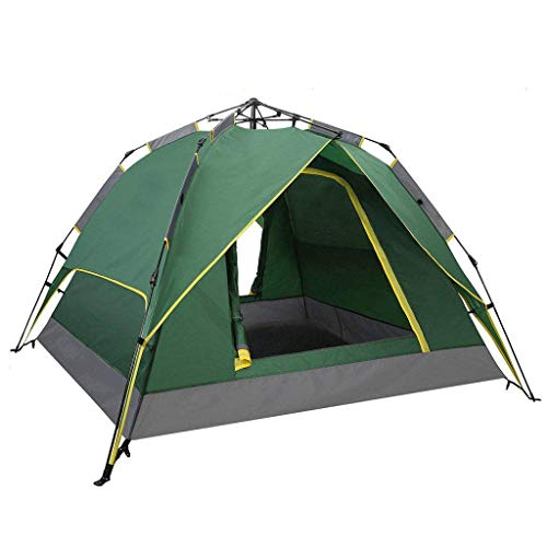 HUNOL Instant Tent, Pop Up Tent Double-Layer Camping Tent for 3-4People Camping-C