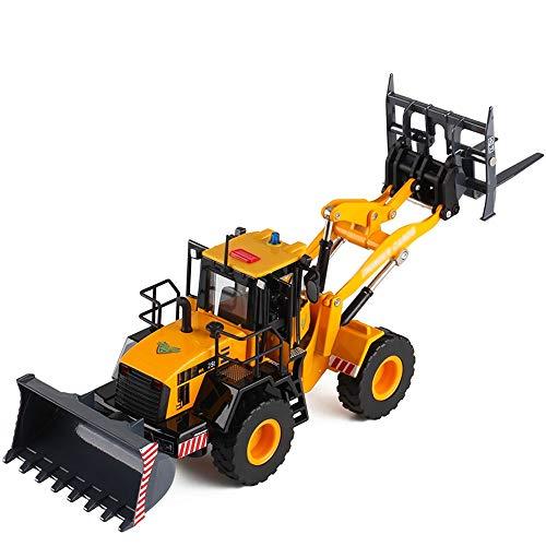 Xolye 3-Leiter Austauschbare Baufahrzeug Spielzeug Simulation Tür entriegelt Ton und Licht Gabelstapler Loader Kinderspielzeugauto-Legierung Auto-Modell-Spielzeug Boxed Metall Shatter festes Spielzeug
