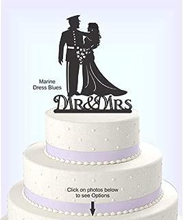 Wedding Cake Topper, Military Uniform, Marine, Army, Navy, Airforce, Acrylic Cake Topper