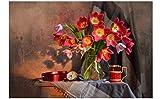 Parcela Floral Reloj Taza Reloj Mapa 5D Kit De Herramientas De Pintura De Diamante Diy Punto De Cruz Diamante De Imitación Redondo Bordado Completo De Diamantes Hogar Decoración De La Casa Regalo Art
