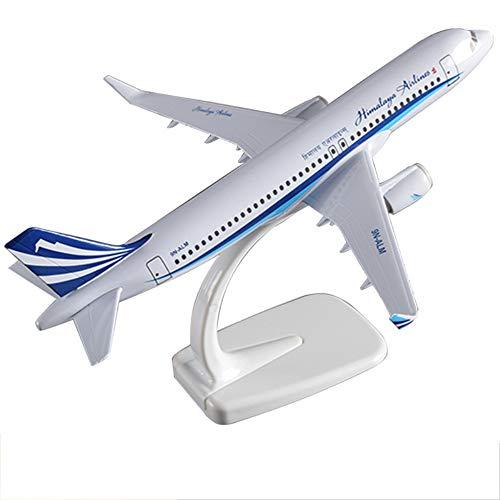 NUOLANDE Flugzeug-Miniaturmodell Die Casting A320 Himalaya Airlines 20cm, Kunsthandwerk und Geschenke, geeignet für Kinder über 3 Jahre alt
