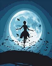 NOBRAND puzzles1000 Piezas de Rompecabezas para Adultos: Cada Pieza es única, la tecnología WYLUWLI Significa Que Las Piezas se Pueden Combinar Perfectamente para Las Chicas Que Bailan en la Luna