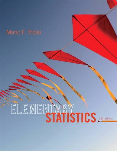 Compare Textbook Prices for Elementary Statistics 12 Edition ISBN 9780321836960 by Triola, Mario F.