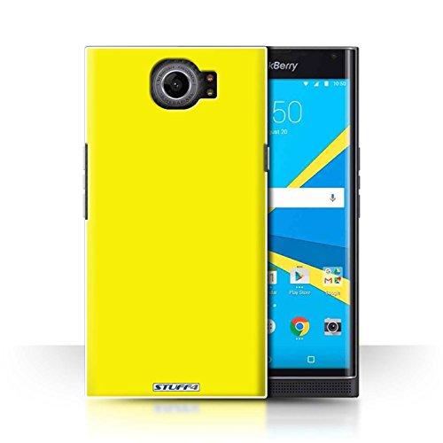 Hülle Für BlackBerry Priv Farben Gelb Design Transparent Ultra Dünn Klar Hart Schutz Handyhülle Case