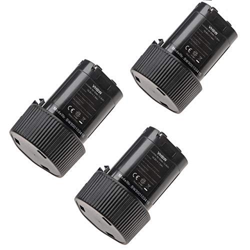 3 x vhbw Set baterías 1500mAh para herramienta Makita TW100DWE, DF330DWLX1, DK1202, DK1202WX, DK1485X, DK1488