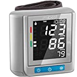 MIBEST Wrist Blood Pressure Monitor with Talking Function - BP Cuff Meter with Display - Blood Pressure Machine up 5.3'-8.5' Wrists - Blood Pressure Tester Kit with Case - Blood Pressure Gauge