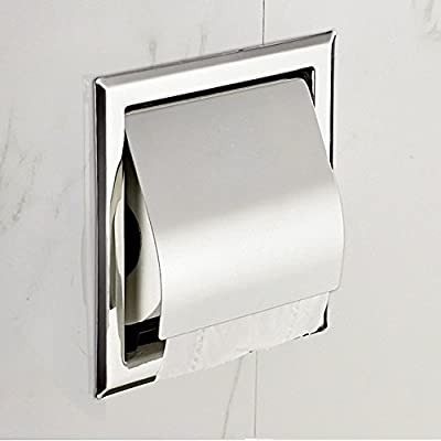 LUANT Recessed Paper Holder for Bathroom Storage, Stainless Steel, Polished Chrome