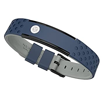 ProExl 9K Sports Golfers Magnetic Bracelet Swim Shower Surf Wear it Everyday  Blue Gray