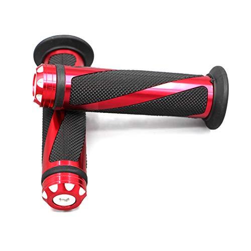Olymajy Lenkergriffe Motorrad, Motorrad Griffe, 1 Paar professionelle rutschfeste Motorradlenkergriffe, universelle 22-mm-Lenkergriffe für Motorräder, Fahrrad(rot)