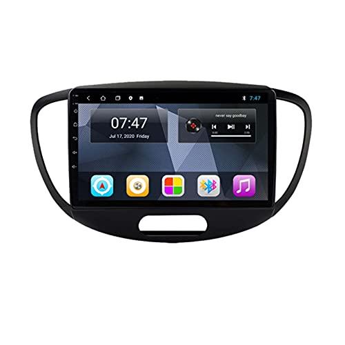 para Hyundai Grand I10 Car Radio 2008-2012 Radios De Automóviles con Navegación GPS Android 9.0 Reproductor De CD De DVD Multimedia 1 2 DIN AUTORADIO(Size:Ocho núcleos,Color:WiFi:4GB+64GB)