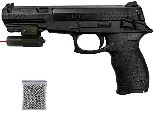 Umarex DX17   Pack Pistola de balines (perdigones o Bolas de Acero BB's). Arma de Aire comprimido. Muelle. Calibre 4,5mm <3,5J