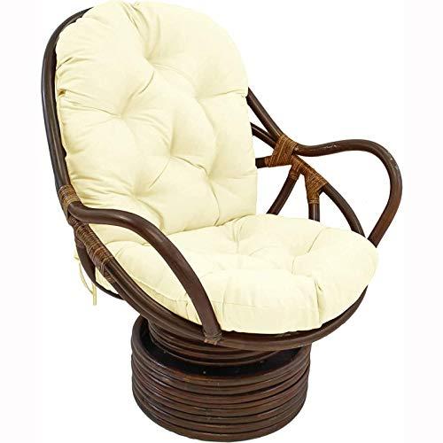 ZWPY Juego de Cojines para sillas mecedoras giratorias, Cojines de Asiento y Respaldo de ratán mullidos, cojín Antideslizante para Colgar en Forma de Huevo (Silla no incluida)