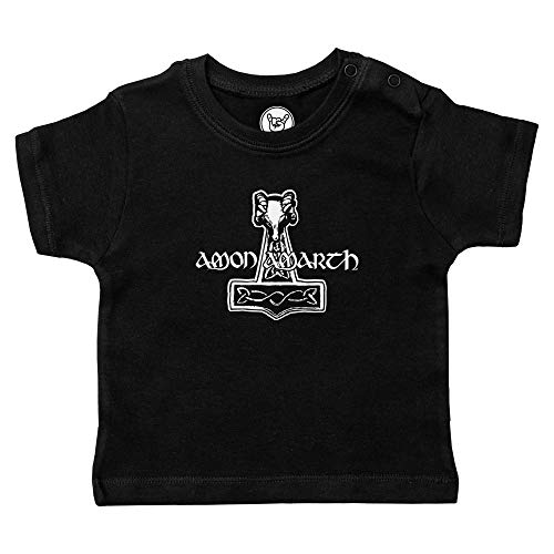 Metal Kids Amon Amarth (Thors Hammer) - Baby T-Shirt, schwarz, Größe 56/62 (0-6 Monate), offizielles Band-Merch