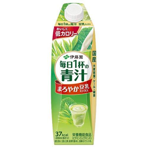 毎日1杯の青汁 まろやか豆乳ミックス 1L×12本 紙パック