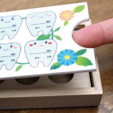 名入れ乳歯ケースかわいいプリンセスデザイン・エンブレムデザイン桐箱お子様やお孫様の記録ギフト誕生日出産お祝い