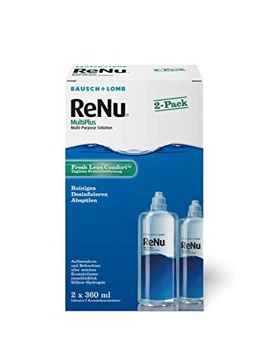 ReNu MultiPlus Pflegemittel für weiche Kontaktlinsen – Kontaktlinsenflüssigkeit im Doppelpack – Twin Box, 2 x 360 ml