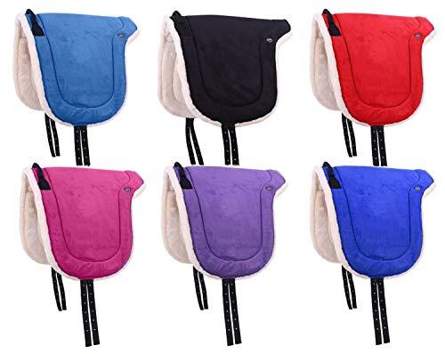 netproshop Bareback Pad Velour Reiten ohne Sattel mit Weichem Kunstfell Shetty/Pony/Full, Groesse:Shetty, Farbe:Pink