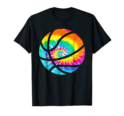 Basketball Tie Dye Shirt - Rainbow Trippy Hippie Tee Shirt T-Shirt