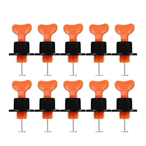 VILLCASE 50 Juegos de de Nivelación de Azulejos de Cerámica Diy de Nivelación de Azulejos de Plástico Niveladores de Azulejos Reutilizables