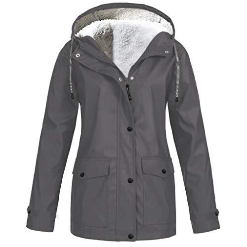Keepmove Casual Daily Coats for Women, Winter Rain Jacket for Outdoor Sports, Mountaineering Waterproof Hooded Raincoat