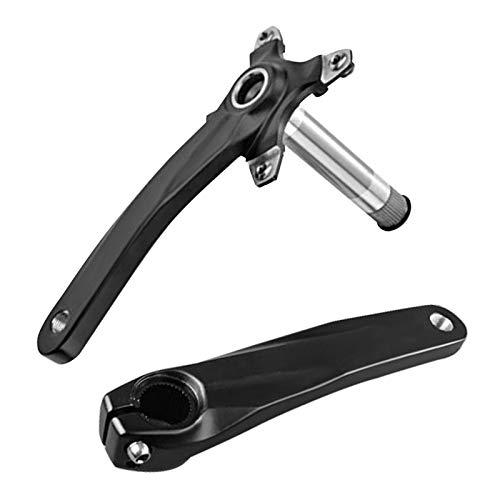 GJCrafts Kurbelsatz für Fahrräder, Kurbel links und rechts für 170 mm Fahrrad, integrierte Kurbelgarnitur für Mountainbikes aus Aluminiumlegierung, Zubehör für Faltrad