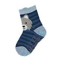 Sterntaler boys socks Fli Fli Air Wolf, blue (light blue), 23/24 EU