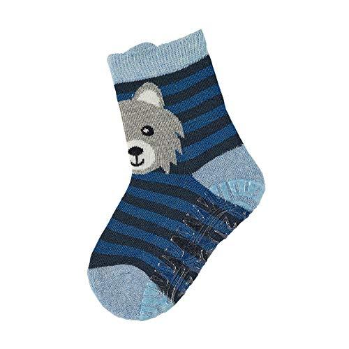 Sterntaler Jungen Socken Fli Fli Air Wolf, Blau (Hellblau), 21/22 EU