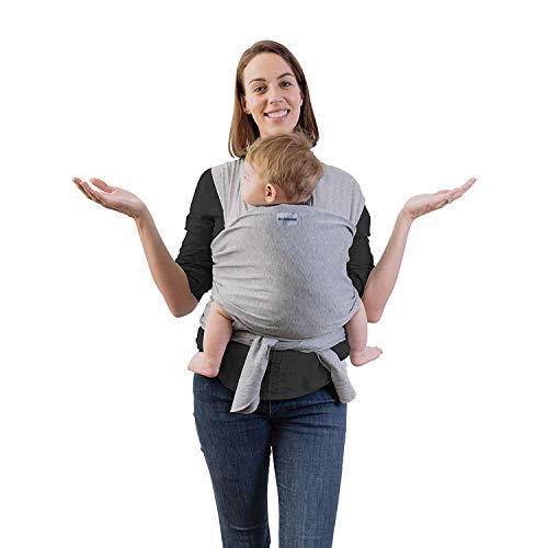 Fascia Porta Bambino 1st.Purchaser | Fascia Porta Bebè - Ergonomica - Marsupio Perfetto Per Neonati e Bebè fino a 15kg - Cotone Leggero e Traspirante - 0-36 mesi - grigia