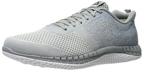 Reebok Men's Print Prime Ultk Running Shoe, skull grey/flint grey/white/ironstone/black, 7.5 M US