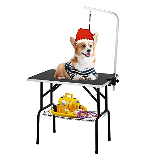 SUNCOO 32/36 Inch Portable Pet Dog Grooming Table