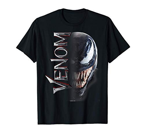 Marvel Venom Split Down The Middle Grin Camiseta