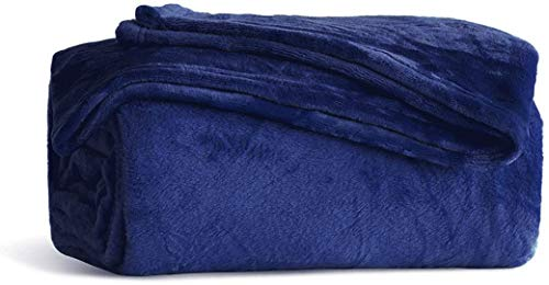 Fleece Blanket Throw Size Navy Lightweight Super Soft Cozy Luxury Bed Blanket Microfiber