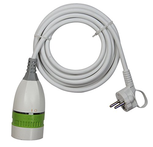 GAO gel019a/5M Protección de Contacto alargador con Interruptor Giratorio Integrado 5m