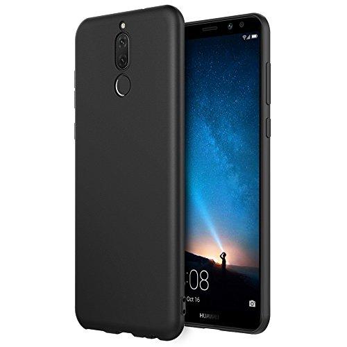 EasyAcc Hülle Case für Huawei Mate 10 Lite, Schwarz TPU Telefonhülle Matte Oberfläche Handyhülle Schutzhülle Schmaler Telefonschutz für Das Huawei Mate 10 Lite