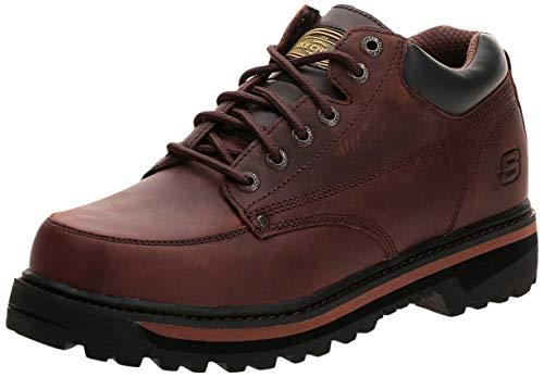 Skechers USA Men's Mariner Utility Boot,Dark Brown,10.5 EE - Wide