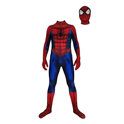 Disfraz de superhéroe Spiderman, Mono de Cosplay de película, Mono de Fiesta de Halloween, Conjunto de Cuerpo Completo para niños, Disfraces de Disfraces, película-Adult-M