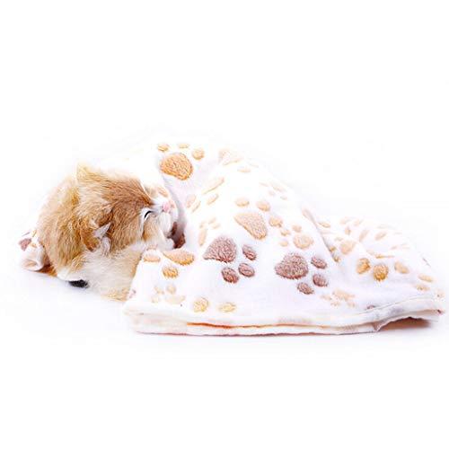 Smniao Hundedecke Katzendecke Super Softe Warme und Weiche Decke für Haustier Fleece-Decke Tier Schlafdeck Handtuch für Hundebett Sofa und Couch (XL:104X76 cm, Beige)