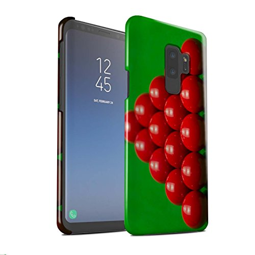 Stuff4® Glanz Snap-On Hülle/Case für Samsung Galaxy S9 Plus/G965 / Rack Muster/Snooker Kollektion