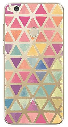 Huawei P8 Lite 2017 / P9 Lite 2017 - NOVAGO® Elegante funda - gel de silicona irrompible (Triángulos de colores)