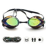 Swim Goggles, Swimming Goggles No Leaking Anti Fog UV Protection Shatterproof Professional Comfortable Adjustable...