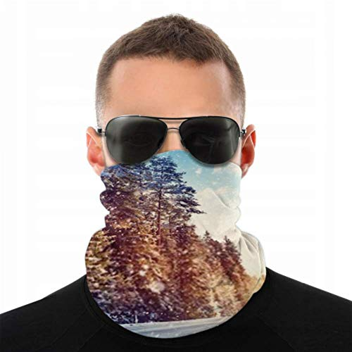 Stirnbänder für Herren und Damen, Halstuch, Gesichtsmaske, Stirnband, Schal, Autoreifen auf Winterstraßen, bedeckter Turban, Multischal, doppelseitiger Druck, Radfahren Gesicht M