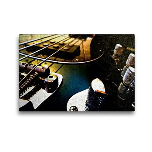 CALVENDO Premium Textil-Leinwand 45 x 30 cm Quer-Format E-Bass, Stingray, Leinwanddruck von Renate Bleicher