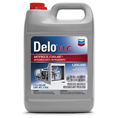 Delo 227811486 Extended Life Prediluted 50/50 Antifreeze/Coolant, 1 Gallon, 6 Pack
